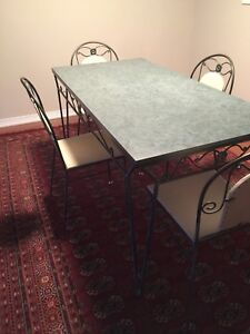 Wrought Iron Antique Dining Room Table - perfect for living room
