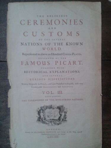 Picart Ceremony 1732  lot 7 engravings México