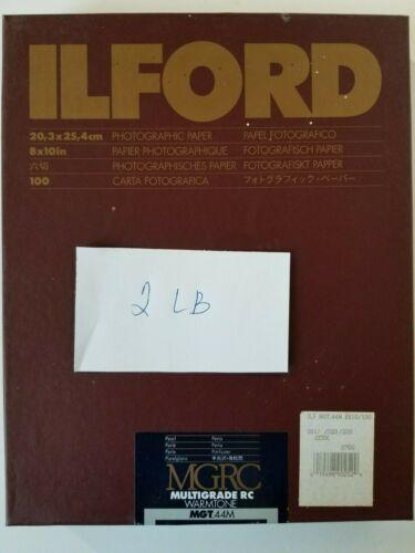 "Ilford MGRC Warmtone MGT 44M Pearl 8""x10"" Photographic paper 2 LBs box."