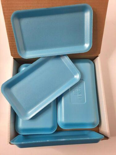 Genpak 17S Blue Small Styrofoam Trays Painting Arts Crafts DIY Projects 16 pcs