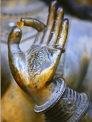 Karte Buddha Ansichtskarte Hand Mudra Herz spirituell VERSANDKOSTENFREI