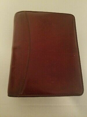 Franklin Covey Usa Planner Compact 1.25 Rings Burgandy Leather