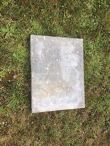 Concrete textured patio stones 50- 18x24x2