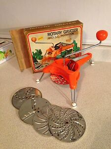 French Style Rotary Grater w/ 5 Cutting Wheels