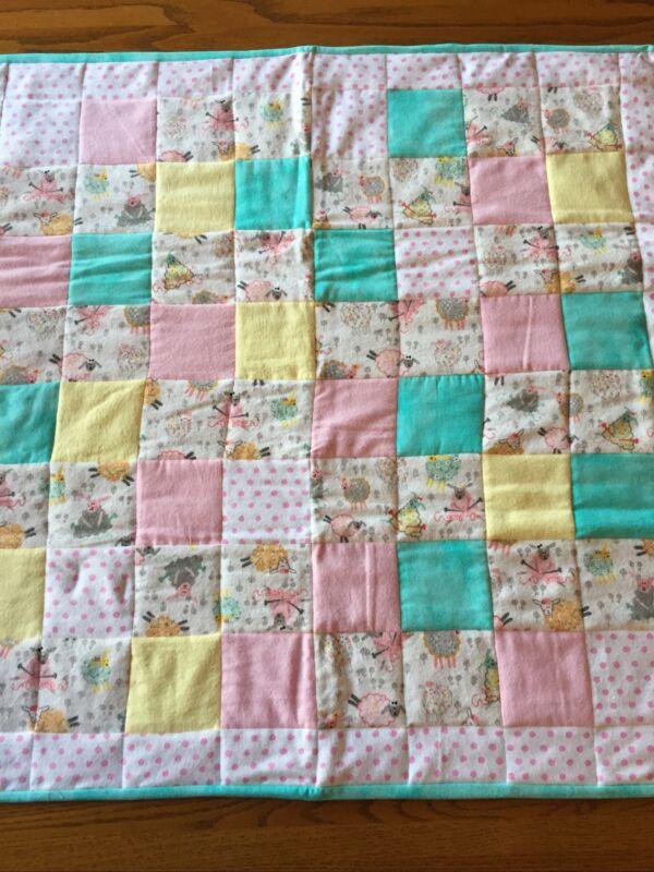 Handmade Baby Girl Quilt 36x36