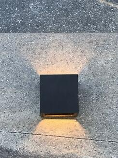 Outdoor Black Flip up/down wall lights LED x 5