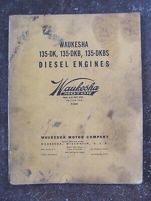 Waukesha 135-dk Dkb Dkbs Diesel Engine Operating Manual
