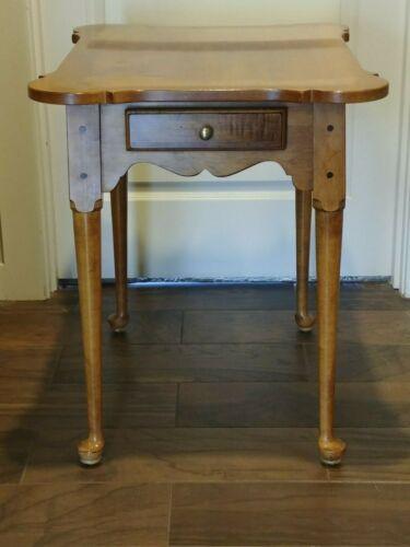 Ethan Allen Circa 1776 Porringer Top End Table Maple #18-8005 EUC