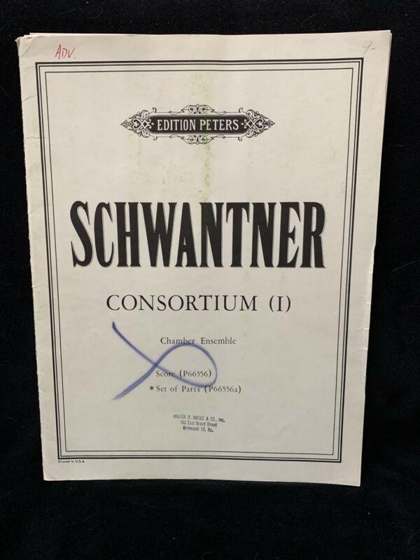 SCHWANTNER, JOSEPH - Consortium (1) -  SET OF PARTS - PETERS - NOS
