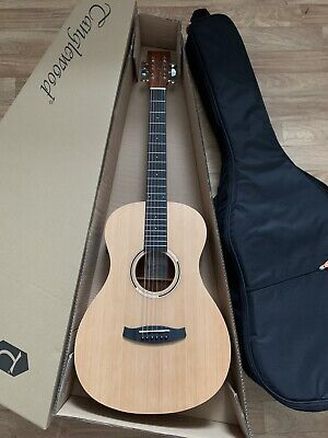 Great Value Electro Acoustic Parlour Guitar with tuner preamp w/ padded gig bag