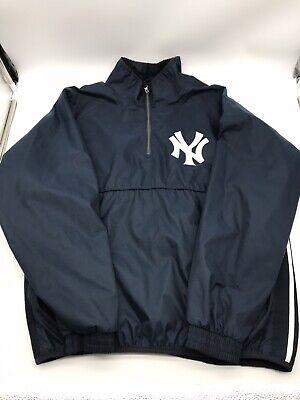 NY Yankees Men's Large Windbreaker Pullover Jacket