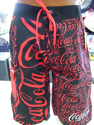 Men's Coca Cola Logo Shorts Swim Trunk Soda Swimwear Coca-Cola Shorts