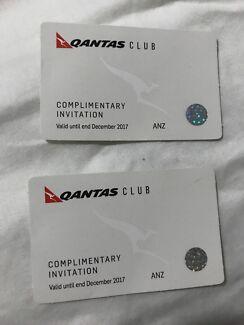 2xQantas club invites, $100 Ono