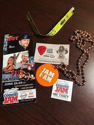 Tim McGraw Tour Guitar Pick 2008 Country Jam Lot FREE SHIPPING