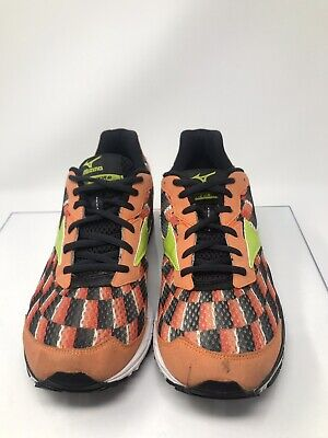 newest dc8e8 218e7 Women s Mizuno Wave Prophecy 4 Shoes Sneakers Measurements 9 Running Black  Green Orange