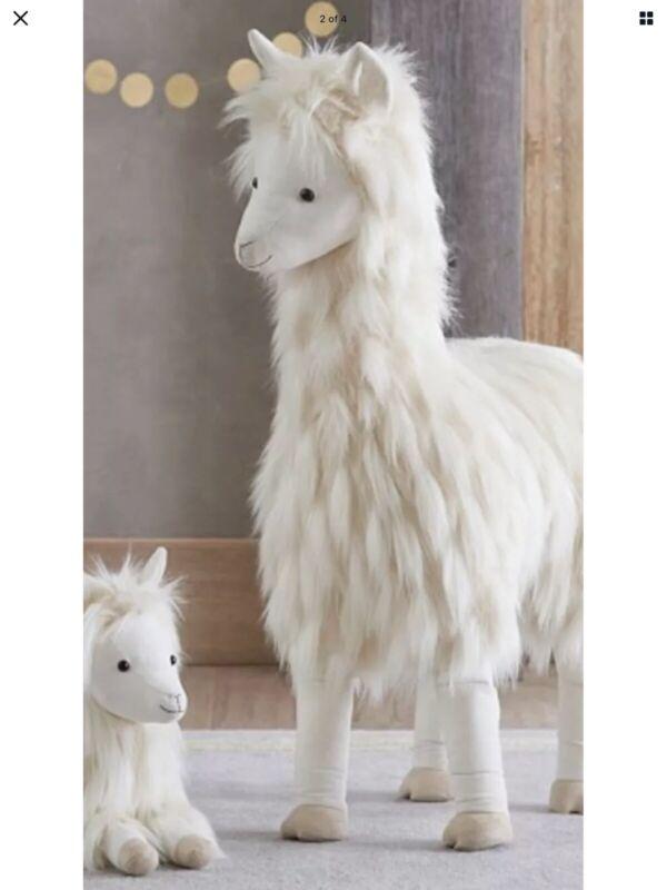 NEW Pottery Barn kids Llama plush collection large standing lama decor nursery
