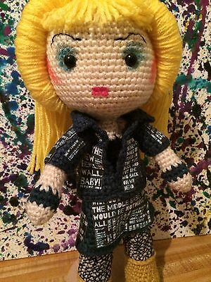 Hedwig And The Angry Inch Inspired Darren Criss Crochet Doll Broadway Theatre (Hedwig And The Angry Inch Darren Criss)