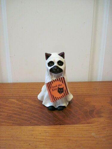 Bethany Lowe NEW Halloween Ghost Cat Figure