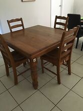 Wooden dining table & chairs Camden Camden Area Preview