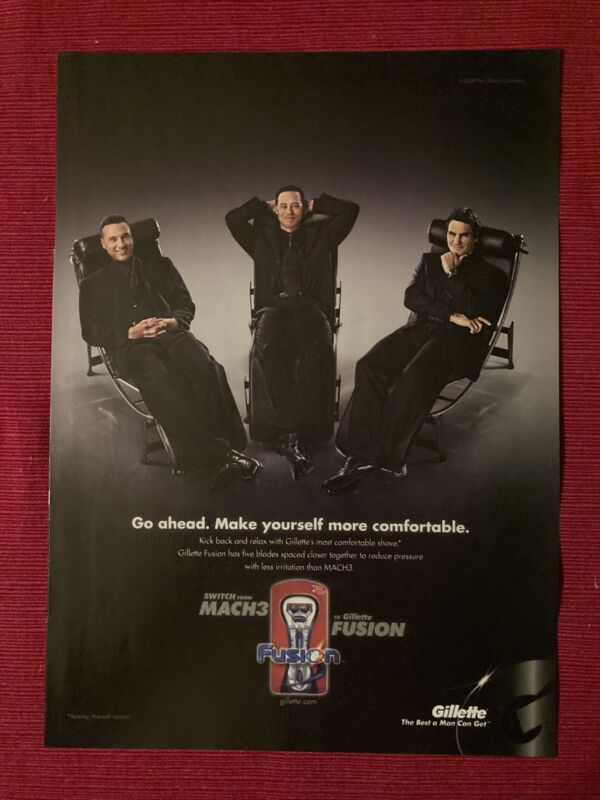Derek Jeter & Tiger Woods for Gillette Fusion 2008 Ad/Poster Promo Art Ads