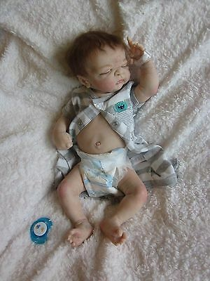 Ooak Reborn Newborn Baby Twin Maddox  Anatomically correct BOY BABY DOLL