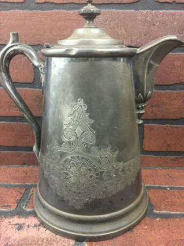 Antique Silver-Plate Water Pitcher