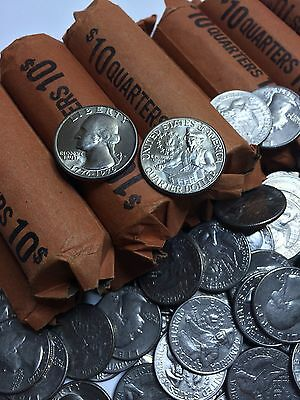 40 CIRC. & UNCIRCULATED 1776   1976 BICENTENNIAL QUARTERS IN OLD BANK ROLL