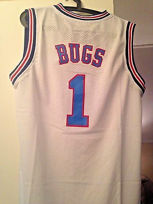 Bugs Bunny #1 Space Jam Tune Squad Basketball Jersey S M L XL XXL