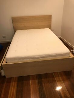 Double bed frame and mattress hardly used. SOLD BY TOMORROW.