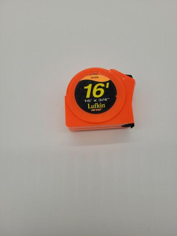 Lufkin HV1316 Hi-Viz Orange Tape Measure USA 16