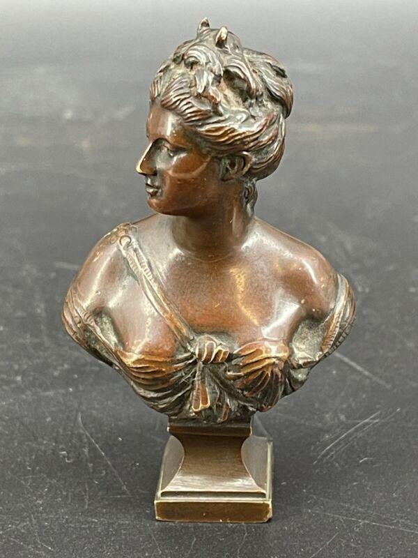 Wonderful Antiques French Minitaure Bronze Lady