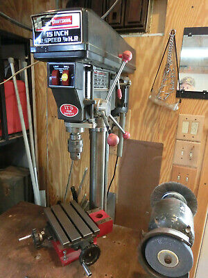15 12 Speed Floor Drill Press Wsmall X - Y Table And 6 Channel Iron Base