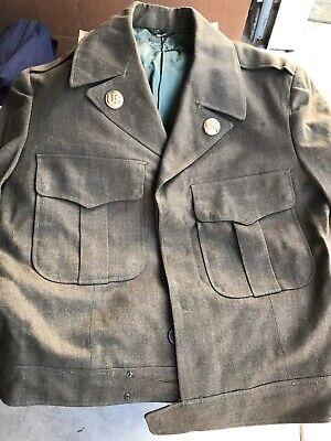 1940s Men's Shirts, Sweaters, Vests WW II VINTAGE MENS 1940'S US ARMY DRESS UNIFORM SHIRT/PANTS/JACKET/TIES/HAT $75.00 AT vintagedancer.com