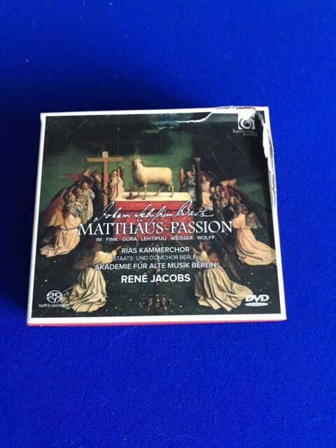 NEW Johann Sebastian Bach - Bach: Matthäus-Passion (2017) 2 CD DVD Book Dam box