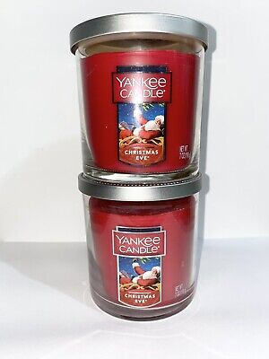 ☆☆CHRISTMAS EVE☆☆LOT OF 2 YANKEE CANDLE SMALL TUMBLERS☆☆FREE SHIPPING