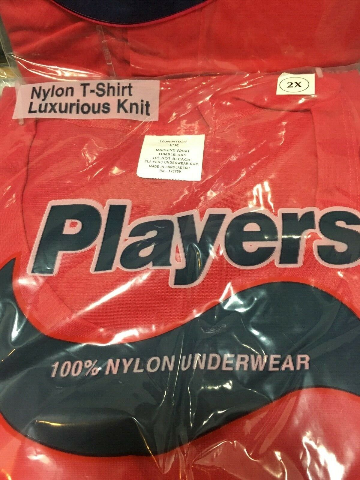 ONE NEW PLAYERS MEN'S NYLON T-SHIRT OR BOXER LUXURIOUS KNIT BLACK-NAVY-RED Clothing, Shoes & Accessories