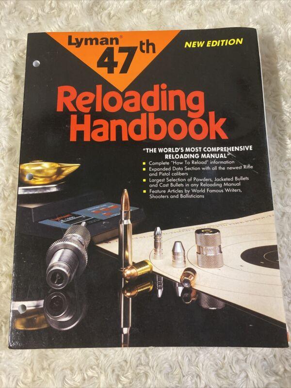 Lyman 47th Reloading Handbook 1993 Rifle Pistol Cartridges Data Powders Bullets
