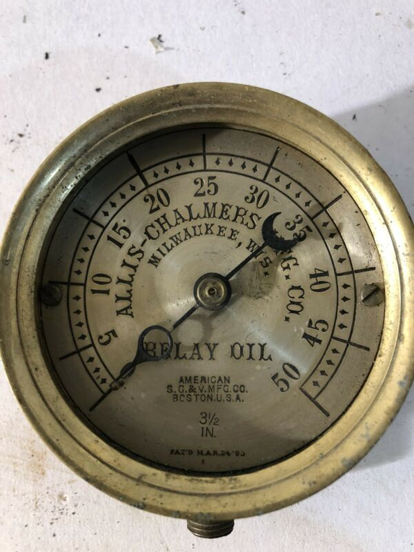 1903 Allis Chalmers Co. Milwaukee Wis. Relay Oil Guage