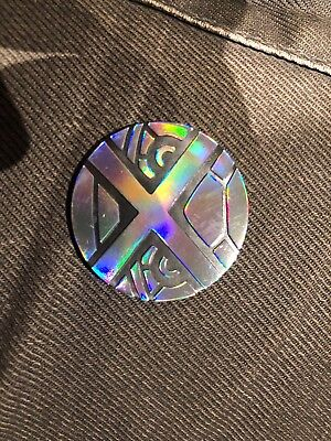 POKEMON HOLO SILVER SHEEN METAGROSS COIN size 3.4cm Pack Fresh In Mint Condition