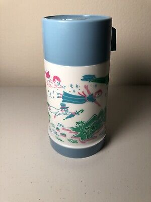 VINTAGE Complete 1969 Peter Pan Thermos for Vinyl Aladdin Lunchbox