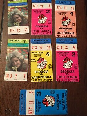 1976 University of Georgia Bulldogs Football Ticket Lot of Five tickets Ole Miss for sale  Levittown