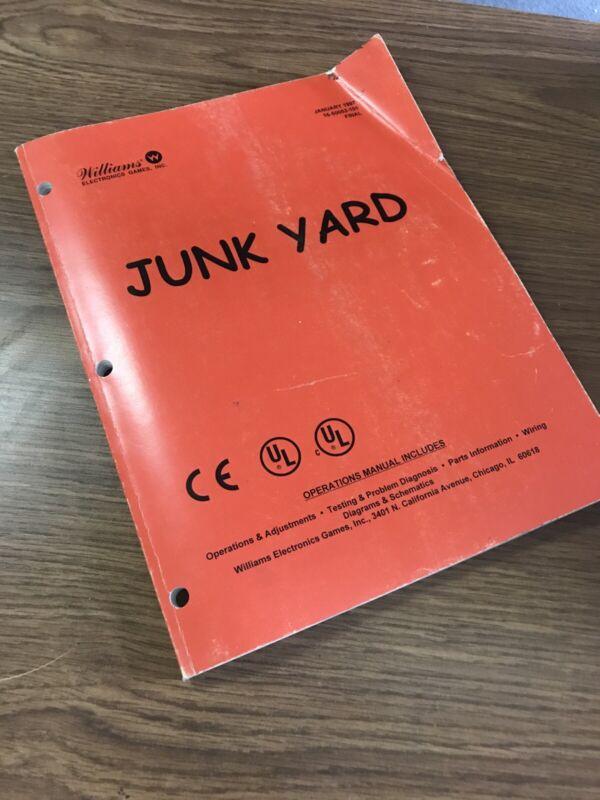 Williams Junk Yard Pinball Manual