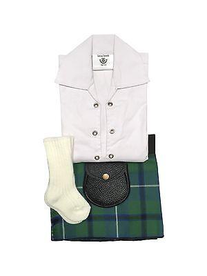 Douglas Ancient Tartan Baby Adjustable Kilt Outfit, Hose, Sporran 0-24 Months ()
