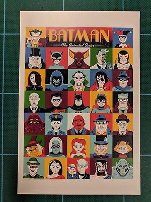 Купить Batman Animated Series BTAS Showcard Poster Art Mini Print Mondo Dave Perillo