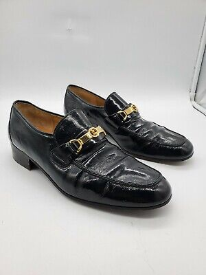 Men's Vintage GUCCI Patent Leather Loafers Size 10 M US (43.5)