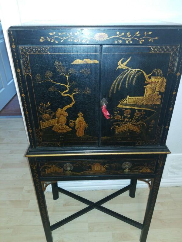Oriental Furniture Cabinet 2pc.