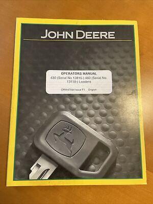 John Deere 430 460 Loader Operators Manual Omw47564 Issue F1