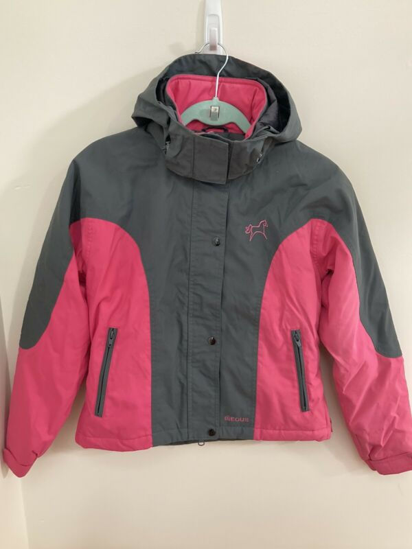 EOUS By Equisupplies Girls 13/14 Winter Coat Hooded Equestrian Weather Resist