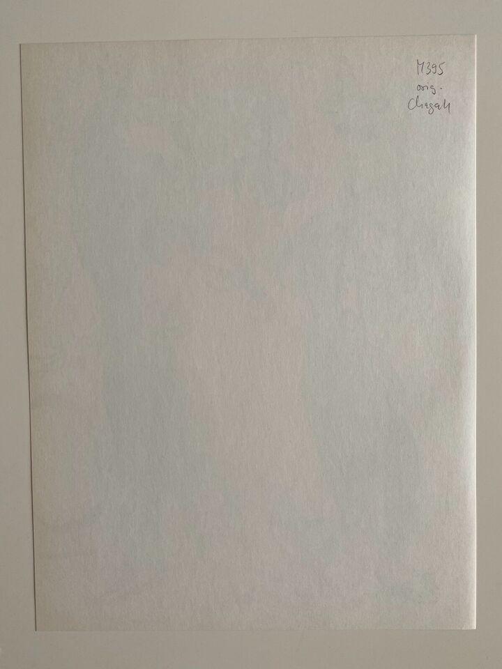 Original Marc Chagall Lithographie 1963 M395 Gaukler Expertise in Baden-Württemberg - Neuhausen