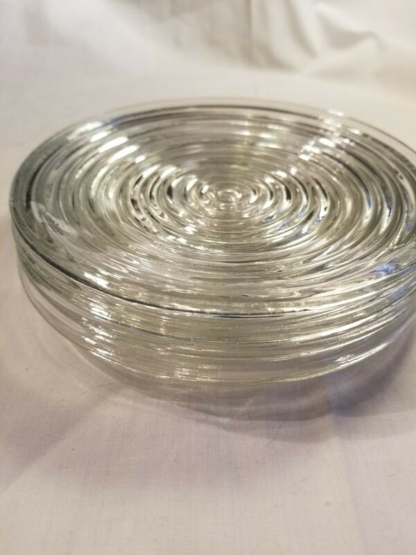 Anchor Hocking Manhattan Clear Glass - Set of 4 - Bread & Butter Plates 6 inch